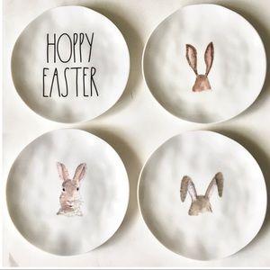 Set 4 Rae Dunn Easter Plates Bunny Rabbit Melamine